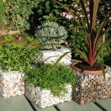 Gabions in landscape design